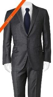 ID#YM3209 Cheap Priced Fitted Tapered cut Suit Slim Cut European Dark color Black Wedding / Prom in 2-Button
