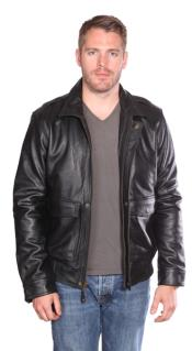 Leather skin Bomber Dark