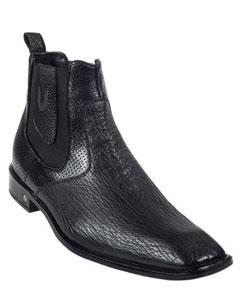 ID#KA5579 Genuine Dark color black Formal Shoes For Men Shark Dressy Mens Short Boots