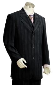 3 Piece Fashion Suit Dark color black