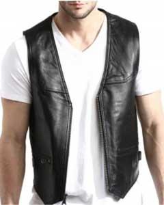color black Lambskin Leather
