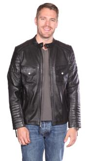 Leather skin Quilted Jacket
