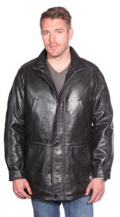 Leather skin Parka Dark