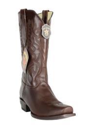 ID#DB17373 Handmade Dark Brown 7 Toe Los Altos Genuine Premium Leather Dress Cowboy Boot Cheap Priced For Sale Online