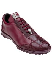 Genuine Ostrich Dark Burgundy