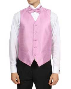Pink 4-Piece Wedding Vest
