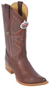 ID#KA8555 Deer Cognac Authentic Los altos Western Boots Western Design Pointy Toe