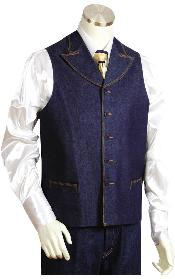 Denim Wedding Vest For