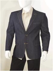 Navy Jean Sportcoat Jacket
