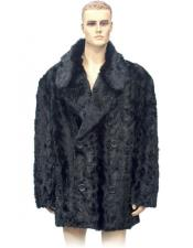 Breasted Black Pieces Mink
