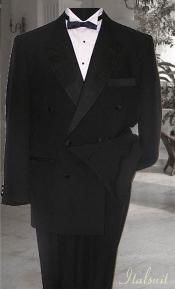 ID#TB38922 Double Breasted Dark color black Tuxedo Superior fabric 150's Cheap Reduced Price Designer 6 on Two buttons Closer Style Jack