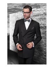 Statement Black Italian Pinstripe