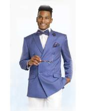Breasted Blue Sportcoat Jacket