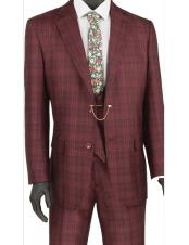 Burgundy Prom Plaid Double