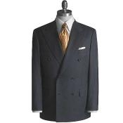 Double Breasted Charcoal Color Suit