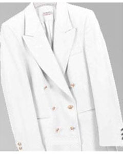 ID# PFF101 Z762TA Cream - Ivory - Off White, Six Button Double Breasted Perforce Sportcoat Jacket Coat