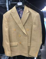 breasted Peak Lapel Gold