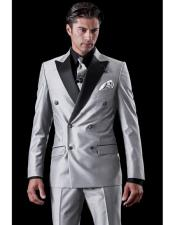 Breasted Tuxedo Light Grey
