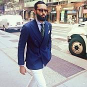 Breasted Navy Blue Blazer