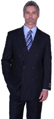 Double Breasted Navy Color Suit