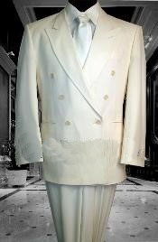 Cream Suit mens 2pc