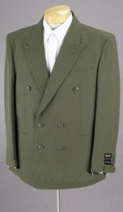 Mens Dark Green Suit