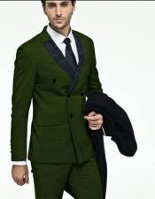 Green Double breasted suit