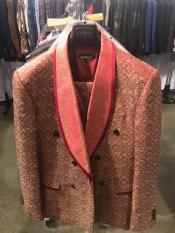 Breasted Red Shawl Lapel