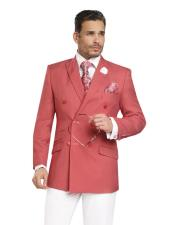 Breasted Red Sportcoat Jacket