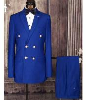 ID#NM360 Men's Double Breasted Royal Light Blue Perfect for wedding Suit