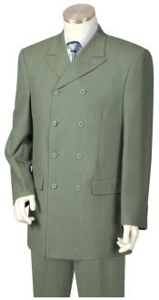 ID#DB23933 Button Closure Sage Double Breasted Suit
