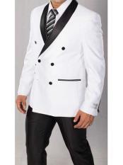 Double Breasted Tuxedo Black