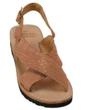 Skin Matte-Cognac Sandals in