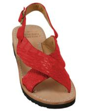 Skin Sandals Red in