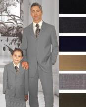 ID#PN-32 1 + 1 Boy Matching Combo For Both Father And Son 2 or Three buttons option Wool fabric Suit Medium Grey
