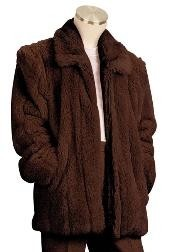 Fur 3/4 Length Coat