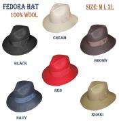 Wool fabric Fedora Trilby