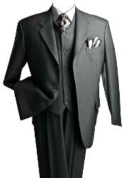 ID#T633TR_KR Premium Dark Charcoal Masculine color Gray 3 ~ Three Piece Suit