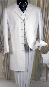 buttons All White Suit