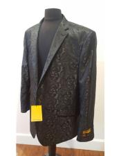 Floral ~ Flower Shiny Black Dinner Jacket Tuxedo Looking  Fashion Best Cheap Blazer For Affordable Cheap Priced Unique Fancy For Men Available Big Sizes on sale Men Sport Coats Sale