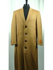 Button Wool Blend Camel