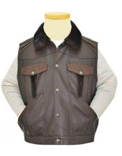 Buttons Brown Genuine HornBack