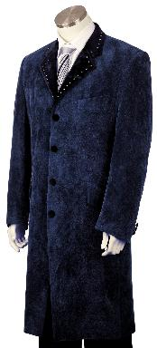 Four buttons Navy Long