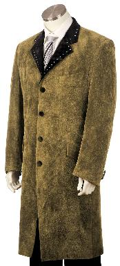 ID#TF3452 High Fashionable Four buttons Long length Zoot Suit Taupe