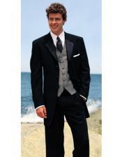 Wool Black Tuxedo Four