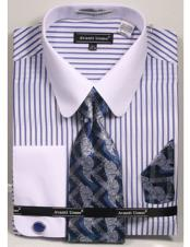 ID#DB23278 Classic Fit Design White Collared French Cuff Dress Cheap Fashion Clearance Shirt Sale Online For Men Red