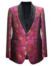 Fuchsia One Button Jackets