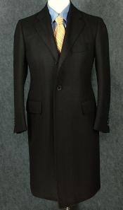 ID#ZC350 Black Full-Length Overcoat  Or  Mid-Length Topcoat $120