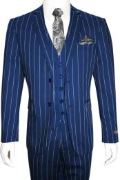 Gangster 1920s Navy Blue
