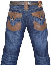 Ostrich Navy Blue Jeans